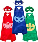 Funhall PJ Masks Costumes and Dress up For Kids - Capes and Masks For Catboy Owlette Gekko
