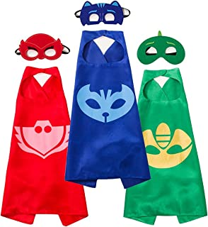 Funhall PJ Masks Costumes and Dress up For Kids - Capes and Masks For Catboy Owlette
