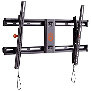"ECHOGEAR Tilting TV Wall Mount with Low Profile Design for 40"" - 82"" TVs - Eliminate Glare with 10º of Smooth Tilt - Slides to Center Between Studs & Can Be Leveled After Install - 2019 Upgrade"