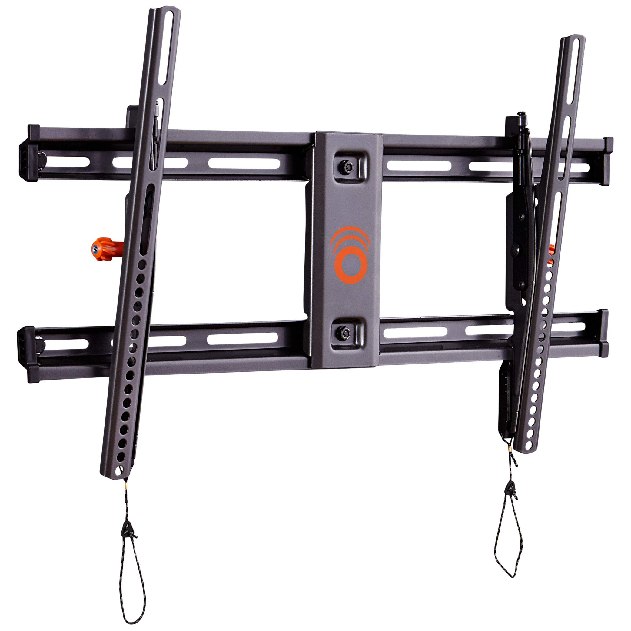 ECHOGEAR Tilting TV Wall Mount with Low Profile Design for 40'' - 82'' TVs - Eliminate Glare with 10º of Smooth Tilt - Slides to Center Between Studs & Can Be Leveled After Install - 2019 Upgrade by ECHOGEAR