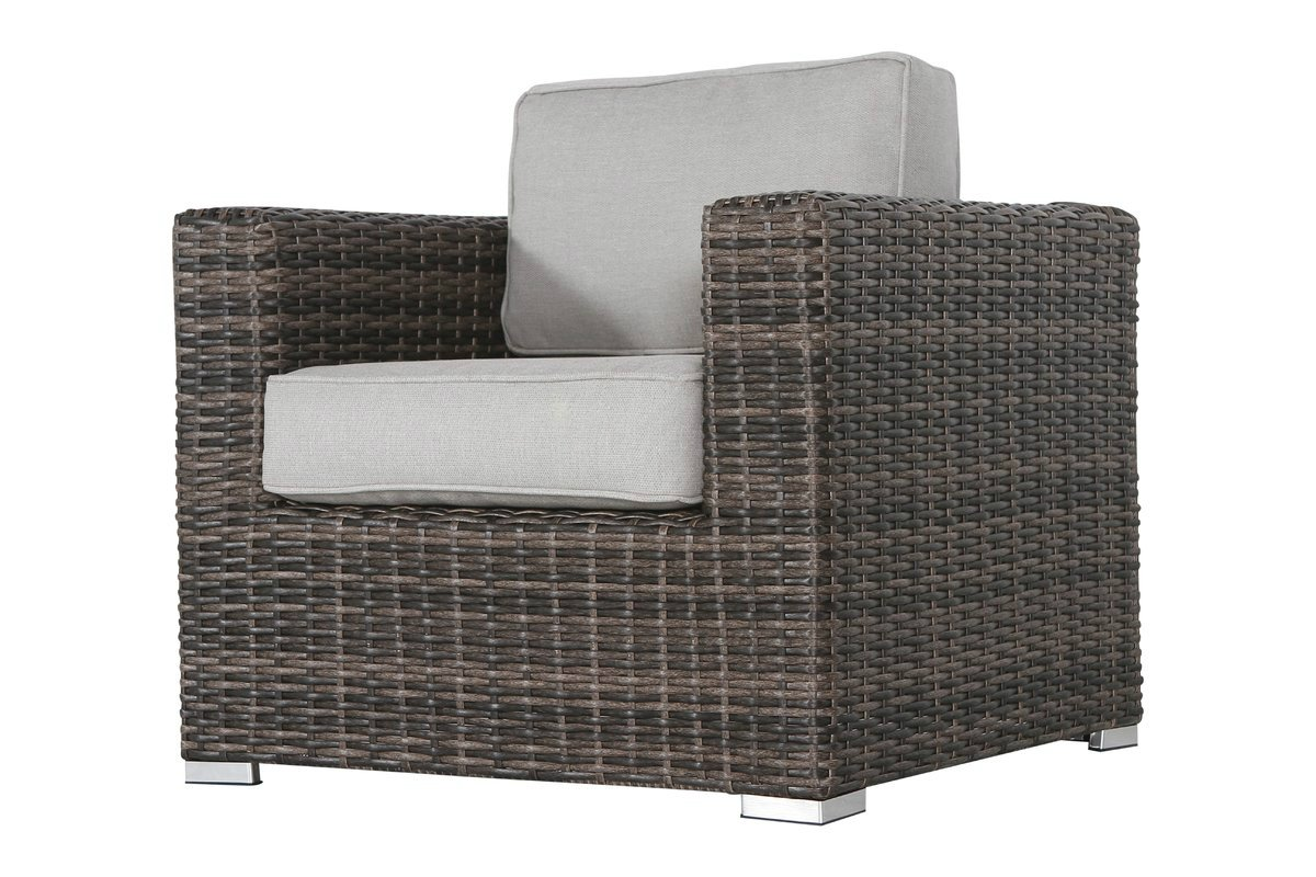 Living Source International Patio Sofa Couch Garden, Backyard, Porch or Pool All-Weather Wicker with Thick Cushions by Living Source International (Image #4)