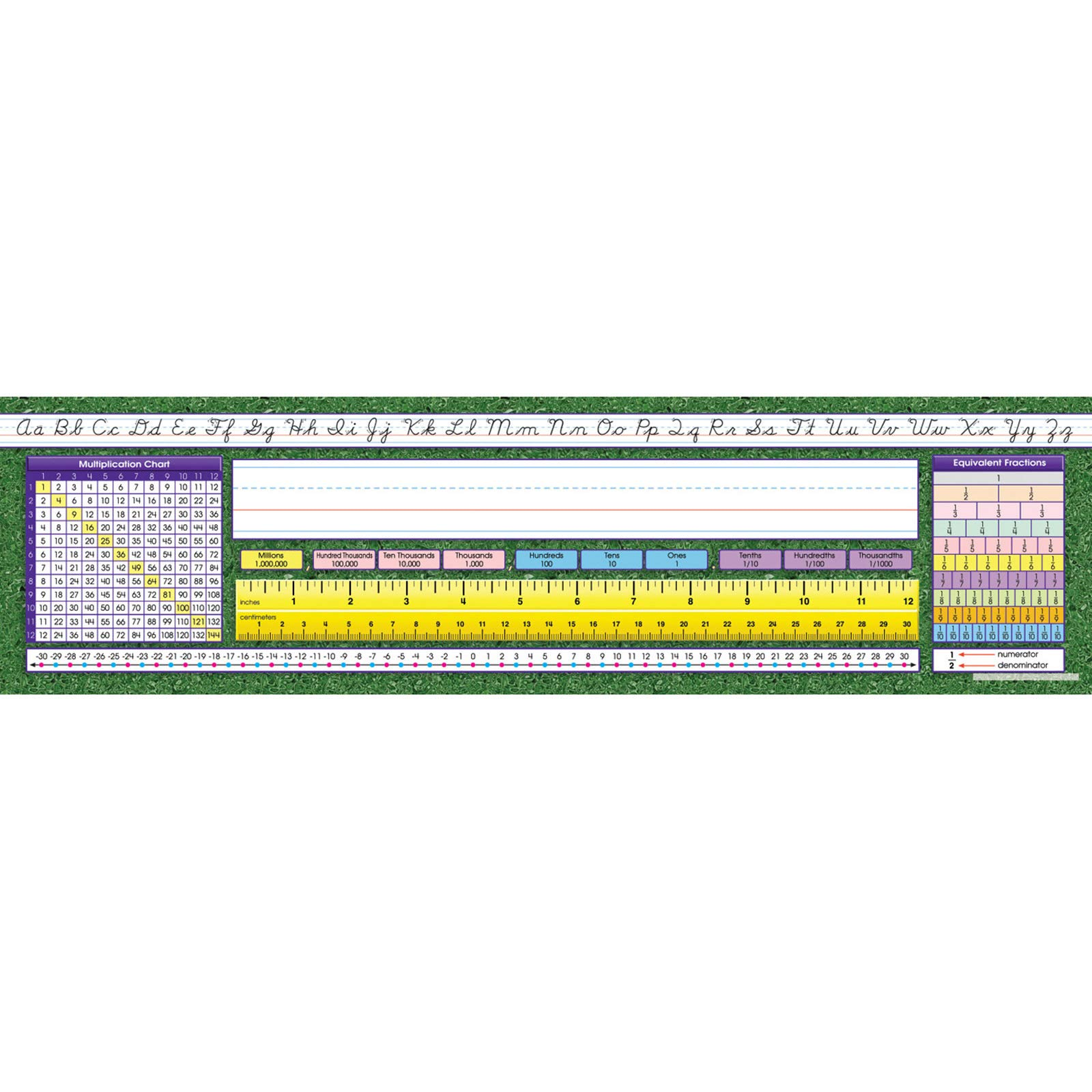 North Star Teacher Resource NST9006 Intermediate Contemporary Cursive Desk Plates, Pack of 36 by North Star Teacher Resource