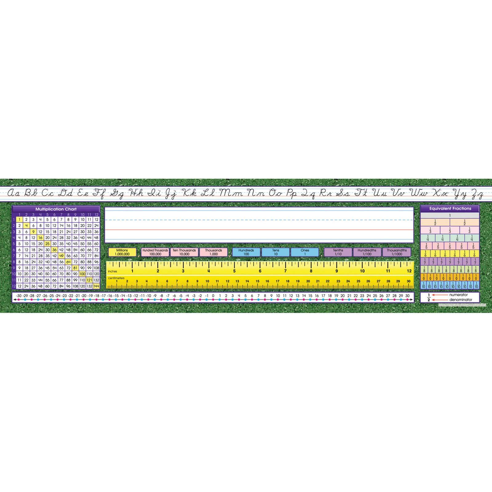 North Star Teacher Resource NST9006 Intermediate Contemporary Cursive Desk Plates, Pack of 36