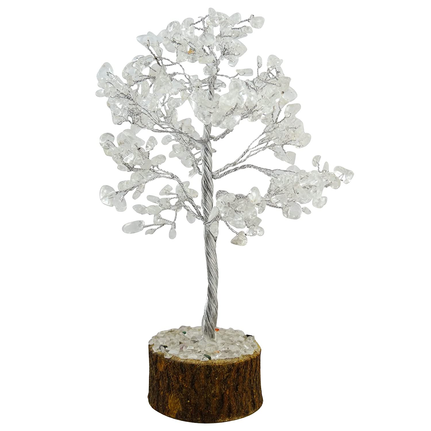 Harmonize Crystal Quartz Tree Spiritual Feng Shui Reiki Healing Stone Table Decor