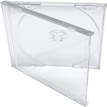 KEYIN - Caja para CD transparente estándar (50 unidades): Amazon ...