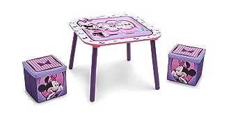 Delta children disney minnie mouse set tavolo e sgabelli con