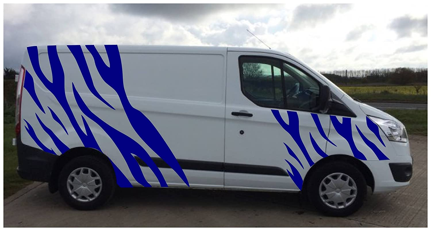 56f71172ac FORD TRANSIT TIGER STRIPES 1 VINYL CAMPERVAN VAN GRAPHICS STICKERS DECALS 1  COL (Black)  Amazon.co.uk  Car   Motorbike