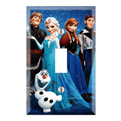 Frozen Decorative Single Toggle Light Switch Wall Plate Cover
