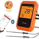 Wireless Meat Thermometer, Bluetooth Remote Cooking Thermometer, Digital Oven Thermometer with 6 Probe Port for BBQ Grilling Smoker Kitchen, iPhone & Android Phone Supported By Uvistare - Chugod