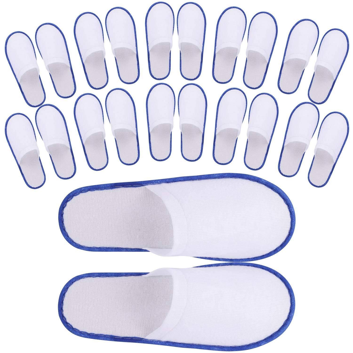 24 Pair Spa Flip Flops Disposable Slippers for Hotel Guests Women, Men Closed Toe Super Comfort by Tbestmax