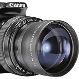 Neewer 10000191 58 mm 2x Teleobjektiv für Canon/Nikon/Olympus/Sony/Pentax/Samsung mit Filtergewinde 58 mm