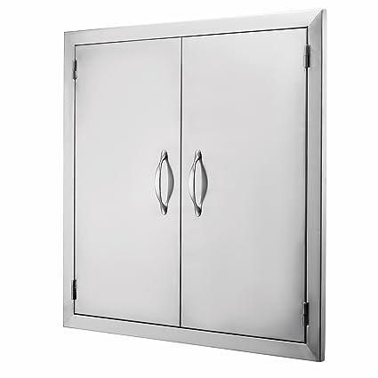 Amazon.com: popsport BBQ Puerta 19 x 28 inch doble puerta de ...