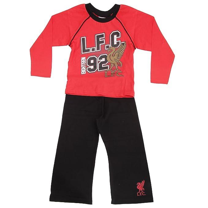 Liverpool Football Club LFC - Conjunto de pijama de manga larga de Liverpool Football Club LFC