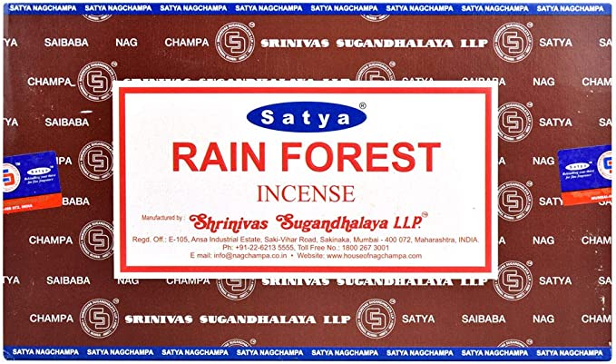 Satya Nag Champa selva varillas de incienso, Caja de 12 paquetes ...