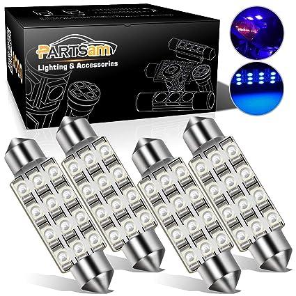 Amazon.com: Partsam 42mm Festoon LED Light Bulbs LED Interior Lights Map Dome  Lights Bulbs 211 2 578 569 Festoon LED Bulb   Blue (4 Pcs): Automotive
