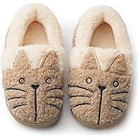Zapatillas de Casa Pantuflas Gatos Invierno Interior Suave para Familia Niños/Niñas/Mujer/Hombre