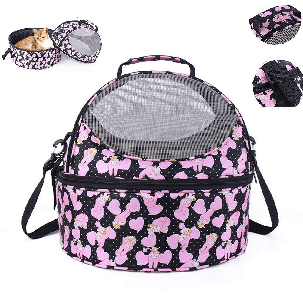 DZENJ Pet Backpack Pet Shoulder Bag Built-in Cashmere Cushion Detachable Cat Bag Travel Camping Outdoor Suitable for Small Cat Pet