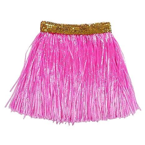 40 cm niños falda hawaiana hierba espesar doble capa de hierba ...