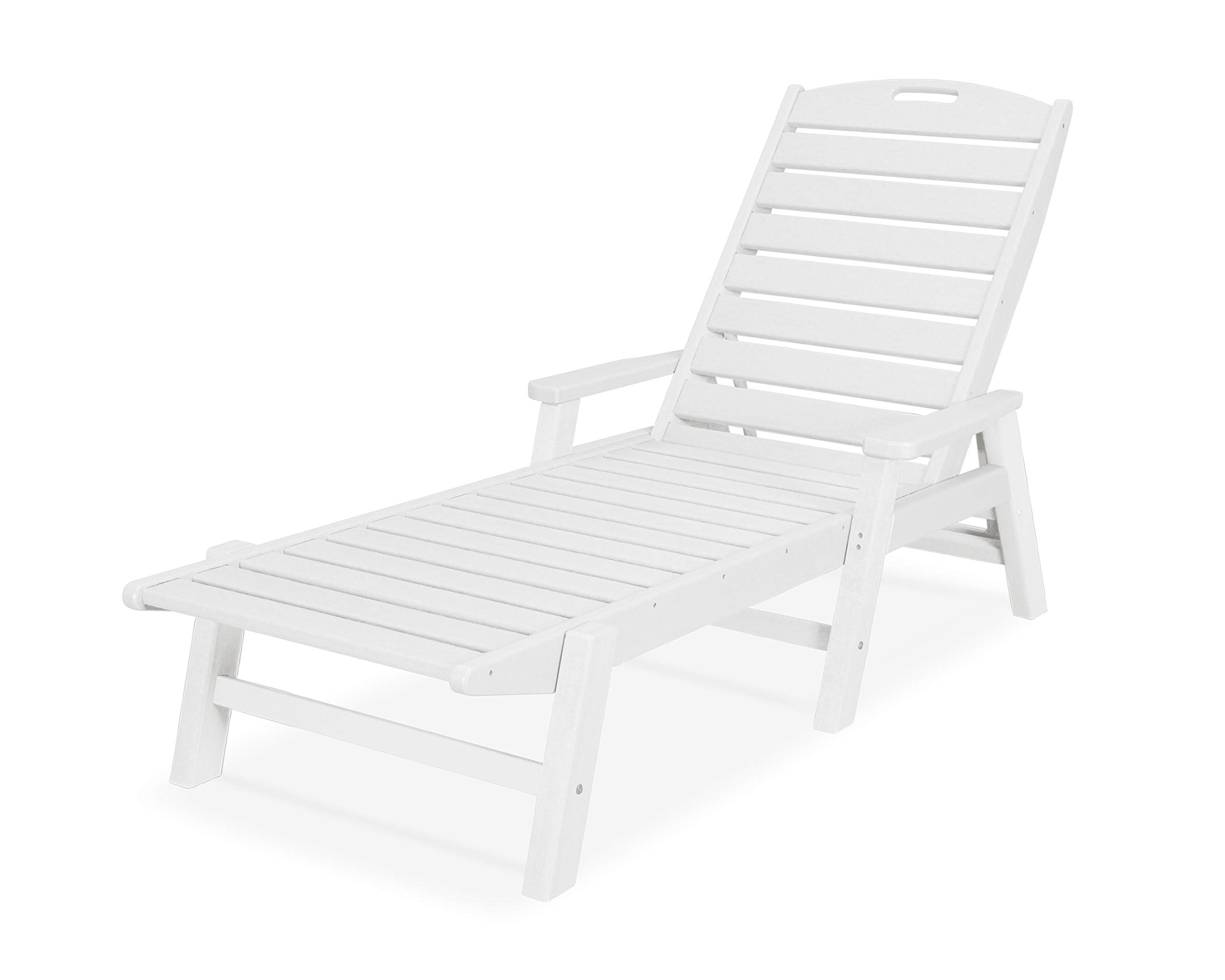 POLYWOOD NCC2280MA-P Nautical Arms Chaise, White by POLYWOOD