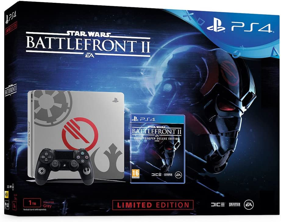 Sony PlayStation 4 Slim STAR WARS: Battlefront II, Grey Console ...