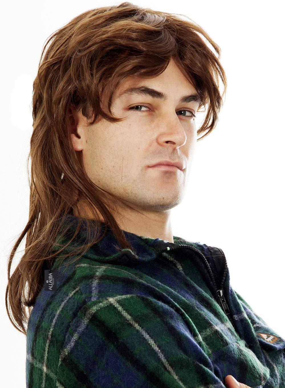 Amazon Com Brown Mullet Wigs For Men 80s Costumes Mens Mullet Wig Brown Merica Joe Dirt White Trash Costume Accessories Beauty