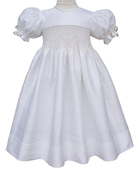 5fd014778 Amazon.com  Carouselwear Flower Girls Silk Smocked Dress Pink ...
