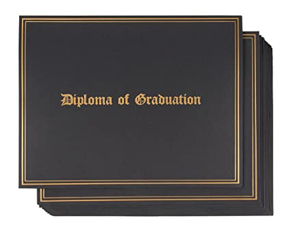 Amazon Com Certificate Holder 12 Pack Diploma Covers For