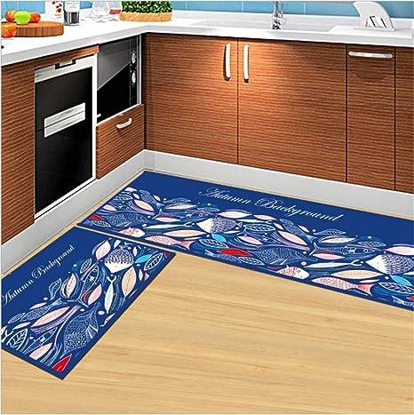 Amazon Com Large Kitchen Rug Set 2 Piece Non Slip Indoor Floor Area