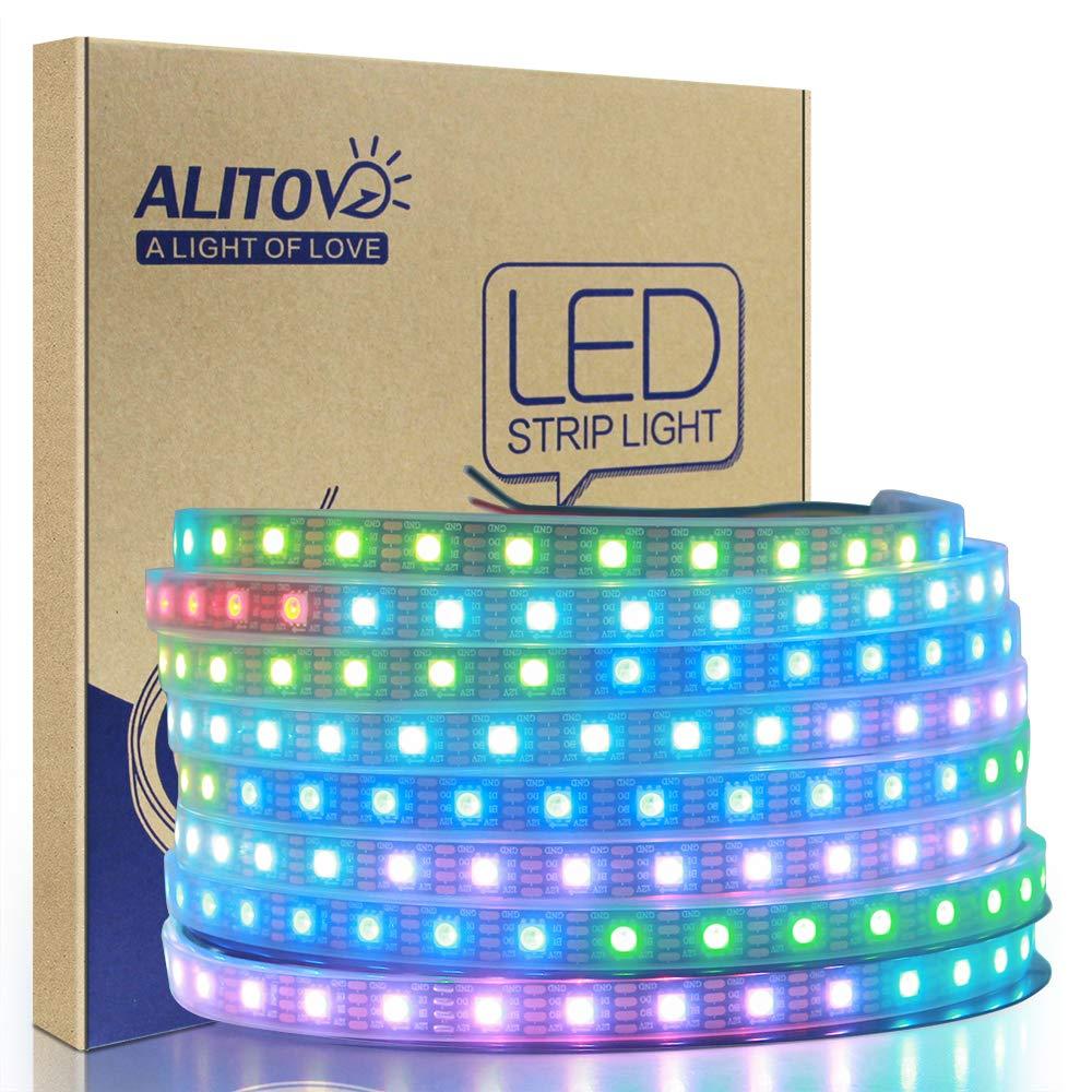 Alitove Ws2813 12v Led Strip Light Ws2812b Rgb 12 Volt Wiring Diagram Free Picture Addressable Pixel Tape Ws2815 Programmable Felxible 164ft 5m 300 Leds