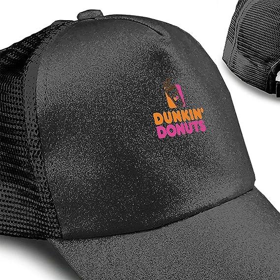 Dunkin Donuts Ponytail Messy High Bun Hat Ponycaps Baseball Cap Adjustable Trucker Cap Mesh Cap