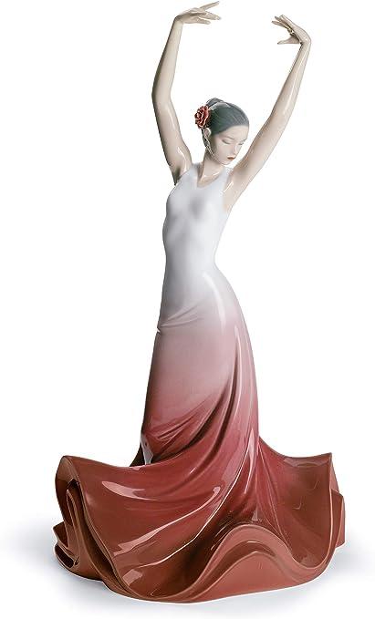 LLADRÓ Figura Mujer Corazón De España. Figura Flamenco de Porcelana.: Amazon.es: Hogar