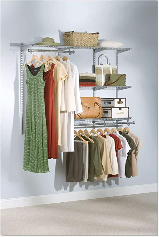 3-6 ft. Rubbermaid Configurations Closet Kits Titanium FG3H1102TITNM