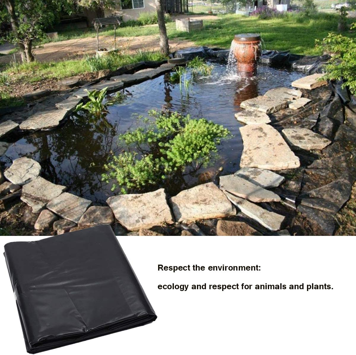 KING DO WAY Lona para estanques de jardín, Revestimiento Cubierta para Estanque Exterior, 2.5mX2.5m: Amazon.es: Hogar
