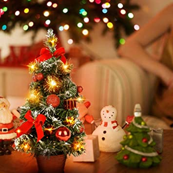 Wingbind Small Christmas Tree with Lights,Mini Desktop Decoration Xmas Tree  for Home Office Shopping - Amazon.com: Wingbind Small Christmas Tree With Lights,Mini Desktop