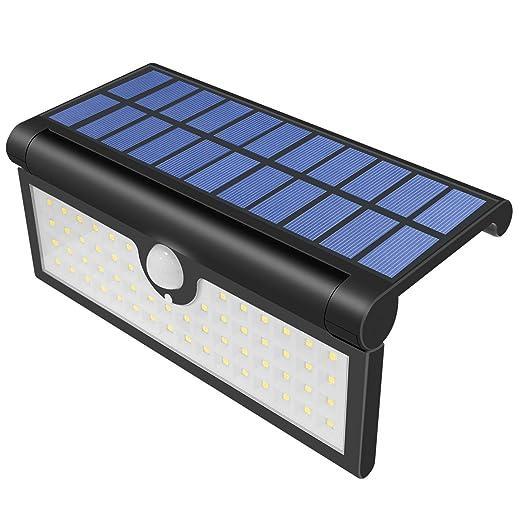 Yasolote Lámpara Solar 58 LED 600 Lúmenes Focos Solares con Sensor de Movimiento, Luz Impermeable