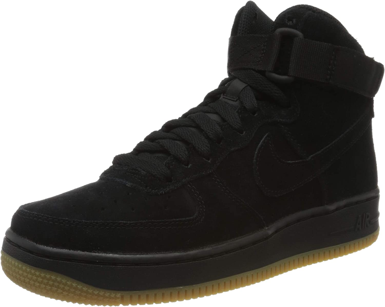 Amazon Com Nike Kids Air Force 1 High Lv8 Sneaker Gs Black Black Gum Light Brown 6 M Us Big Kid Basketball