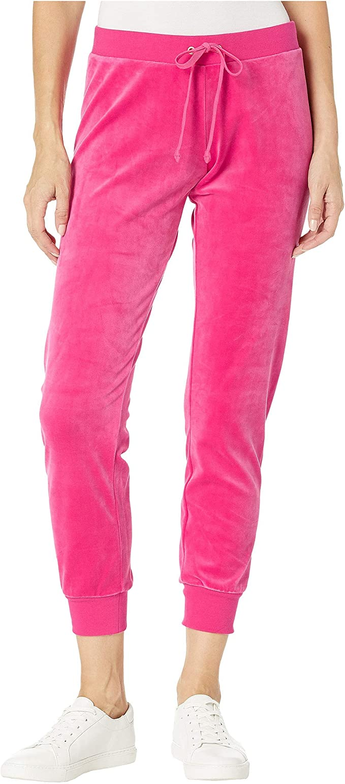 Amazon Com Juicy Couture Track Luxe Velour Zuma Pants Couture Pink Xl Us 14 Clothing