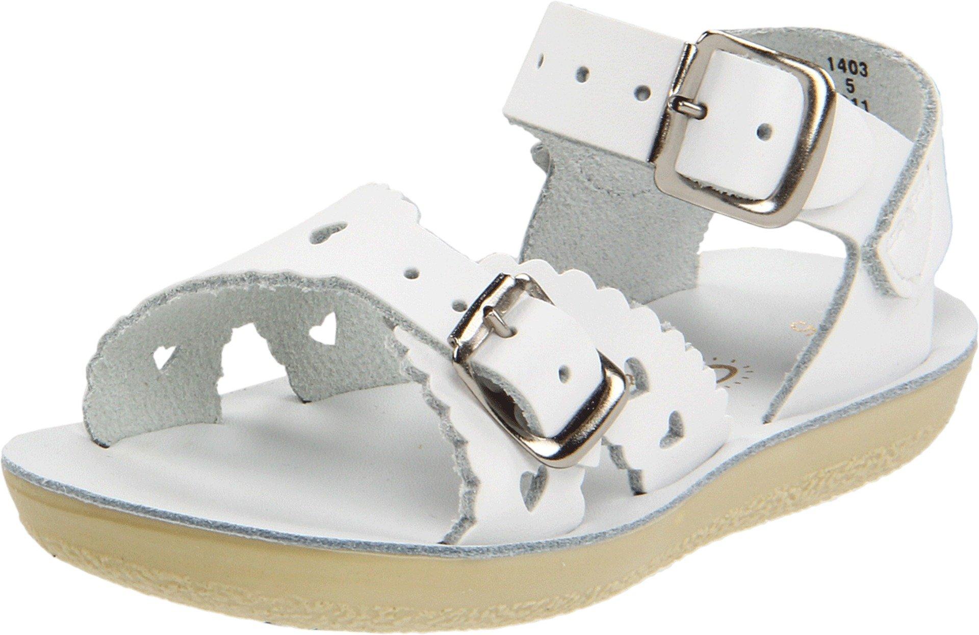 Salt Water Sandals by Hoy Shoe Sun-San-Sweetheart Sandal,White,6 M US Toddler