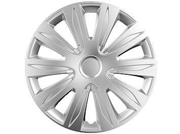 16 Juego de 4 tapacubos TAPACUBOS de rueda Modelo Nardo Plata 16 Pulgadas