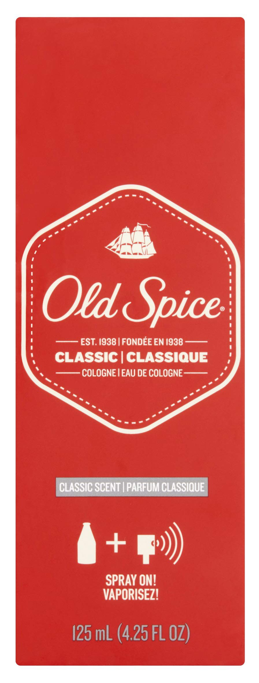 Old Spice Classic Cologne Spray 4.25 oz (Pack of 3)