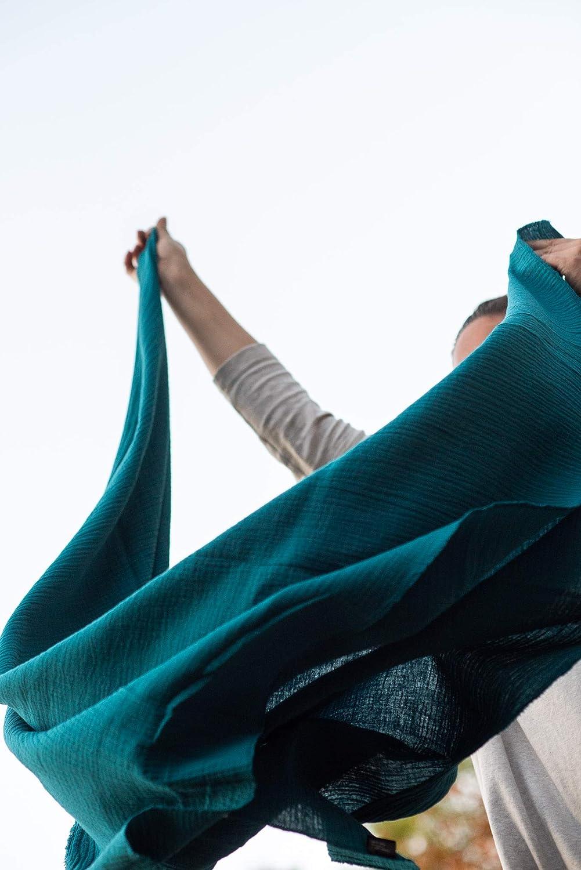 Spucktuch und Schmusedecke als Halstuch ein universelles Mama Accessoire Kopftuch oder f/ürs Baby als Pucktuch Parero OEKO TEX Standard 100 Grau Musselin Tuch von PRETTY USEFUL