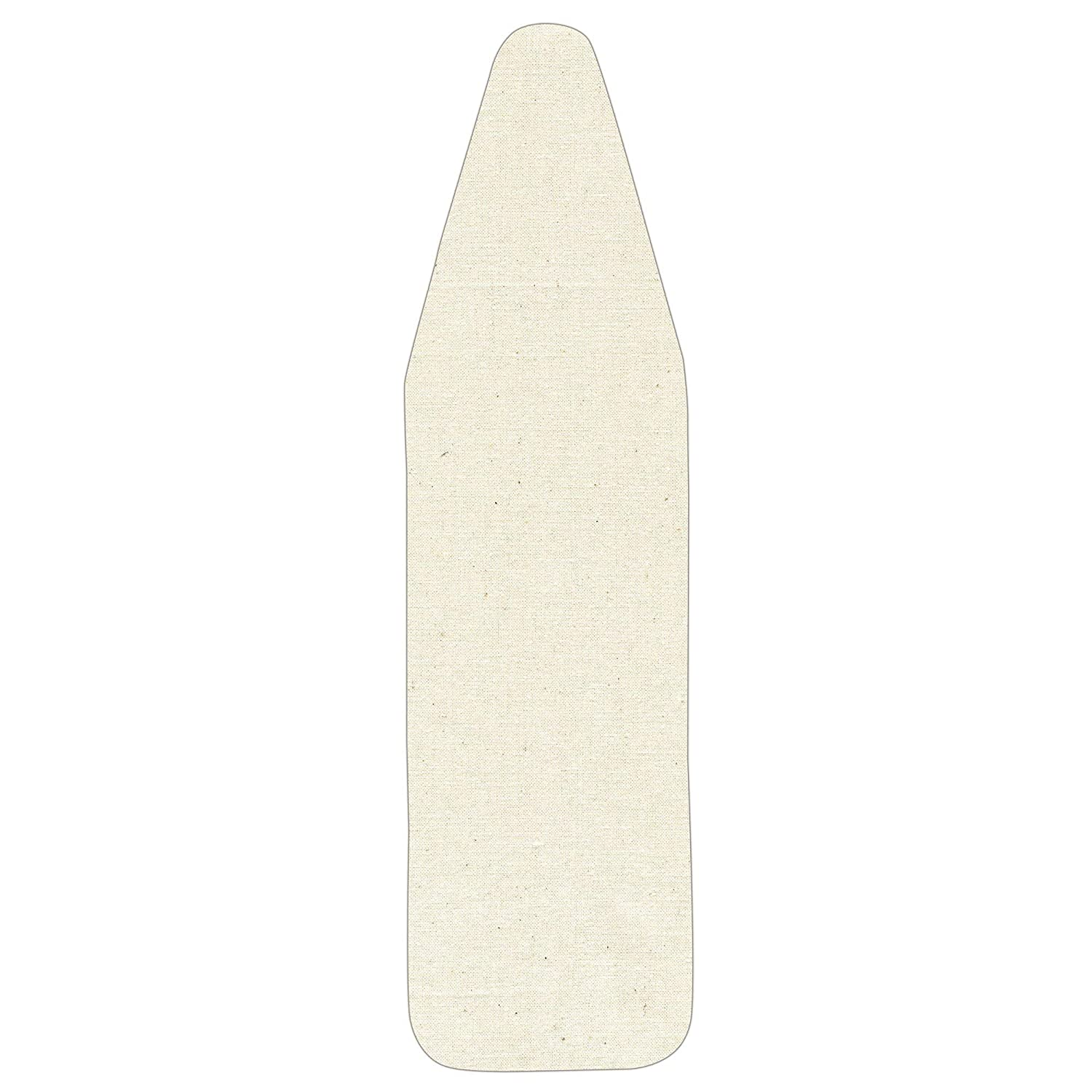 Household Essentials 7347 Replacement Pad and Cover for Wide-Top Ironing Board | Natural Cotton Canvas