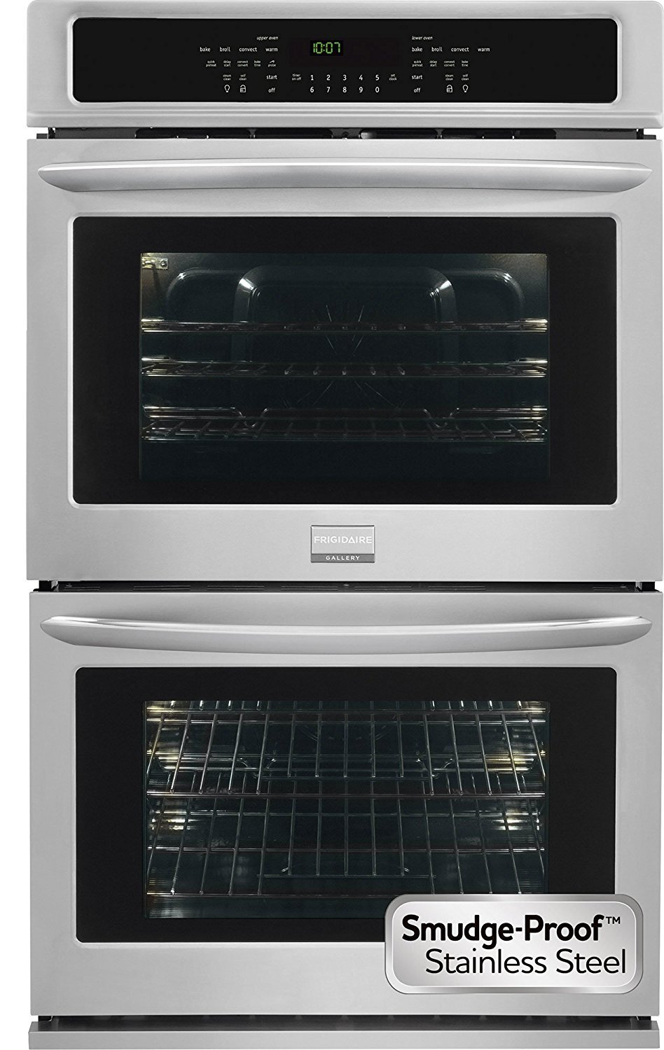 Frigidaire Gallery Collection 30'' Double ELectric Wall Oven with 9.2 Cu Ft. Capacity and True Convection in Smudge-Proof Stainless Steel