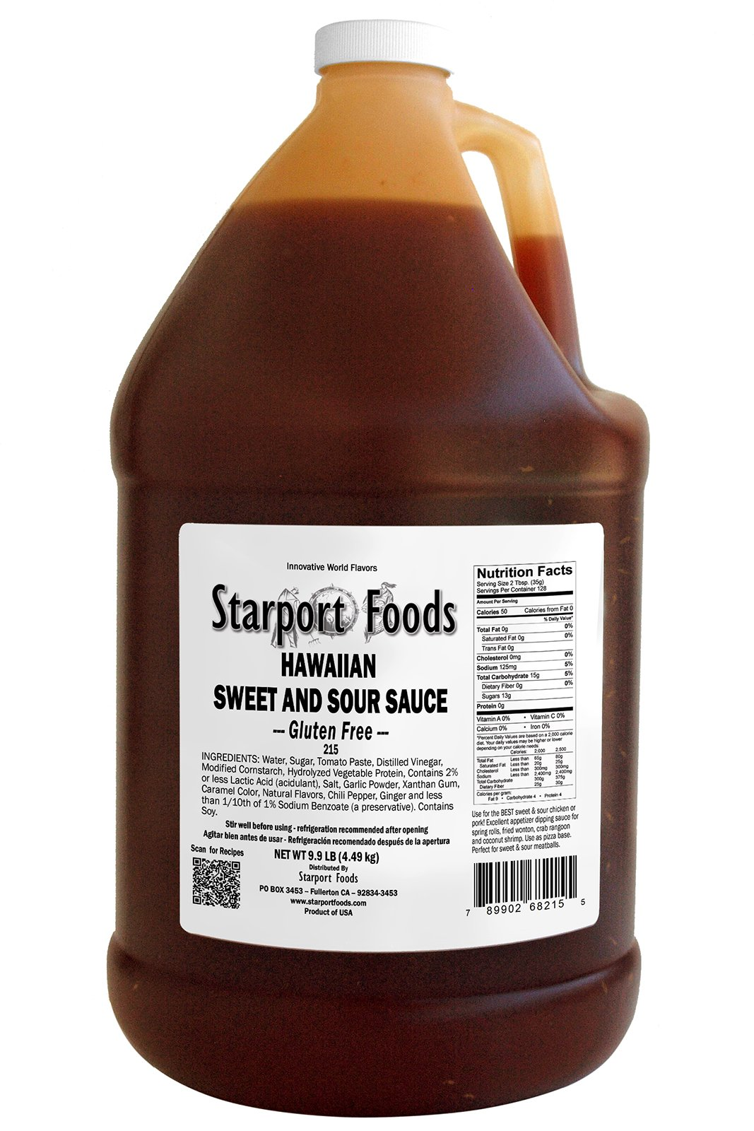 Starport Foods Hawaiian Sweet and Sour Sauce - Gluten Free, 1 gallon (NET WT 9.9 lb, 158 oz) by Starport Foods