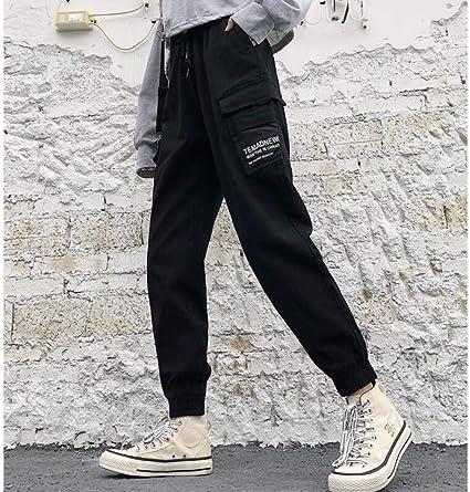 Maositian Pantalones De Mujer Pantalones De Carga Verde Militar Para Mujer Pantalones De Hip Hop Hasta El Tobillo Unisex Hip Hop Jogger Overol De Cintura Alta Pantalones De Haren Amazon Es Hogar