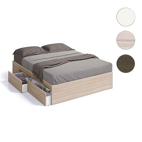 Habitdesign 006088W - Cama con 4 cajones para somier de ...