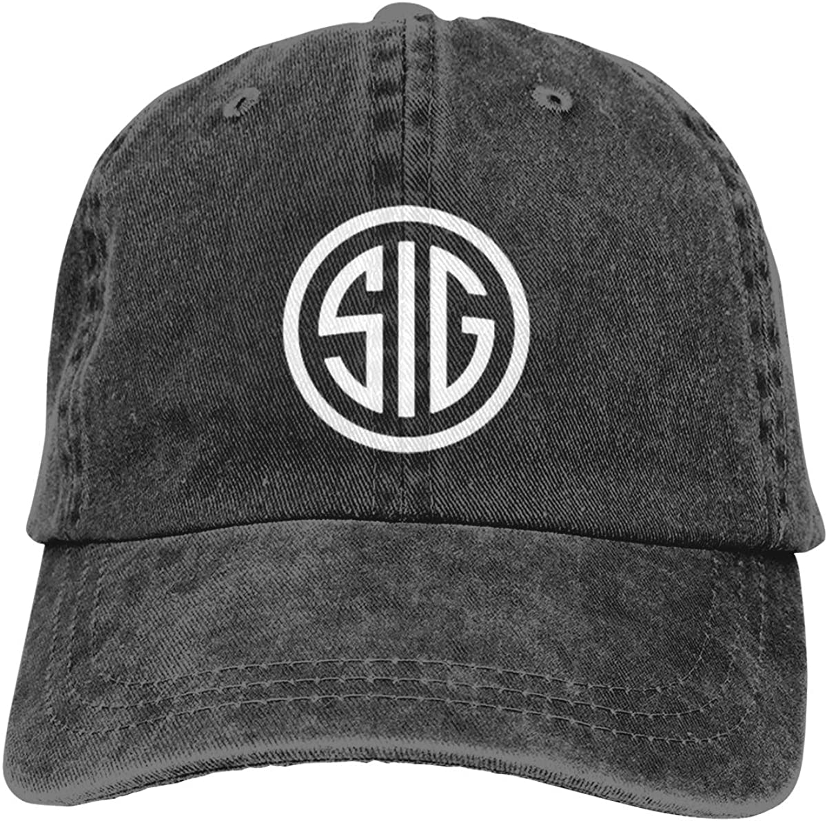 MANDUCK Unisex SIG Logo Retro Cowboy Hat Sports Baseball Cap Adjustable Classic Cotton Adult Hats for Mans Womens