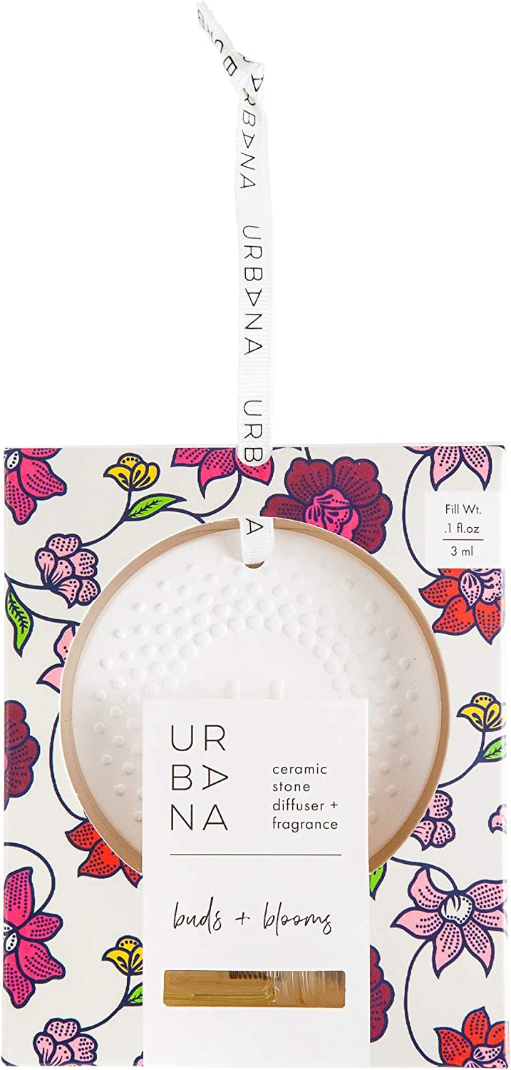 Urbana Home Collection Fragrance, Ceramic Stone Diffuser, Buds + Blooms