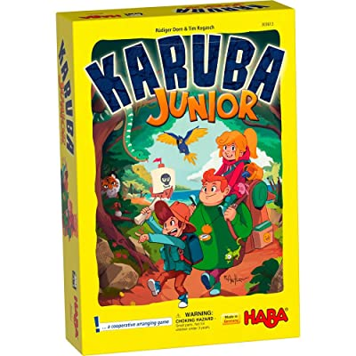 HABA Karuba Junior - A Cooperative Arranging Game for Ages 4-8 (Made in Germany): Toys & Games [5Bkhe0702931]