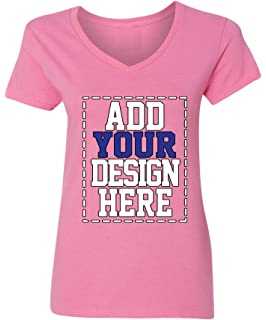 f41d9d0c Custom V Neck T Shirts for Women - Make Your OWN Shirt - Add Your Design